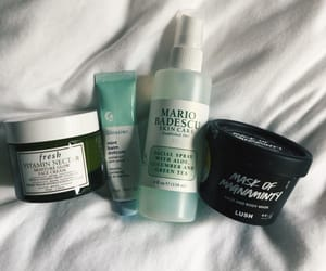 lush, skin care, and mario badescu image
