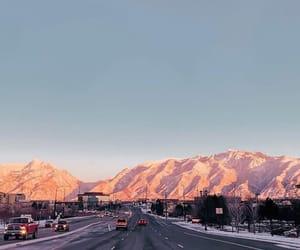 mountains, road, and salt lake city image