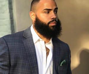 beard, dapper, and mixed race image