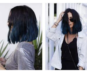 blue hair, hair, and hair cut image