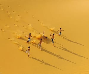 yellow, aesthetic, and sand image