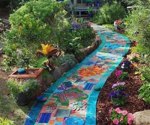 backyard, path, and creative image