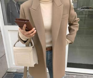 aesthetic, beige, and coat image