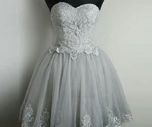 homecoming dress, lace homecoming dresses, and silver homecoming dresses image