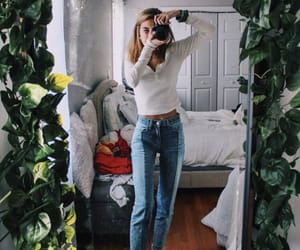 girl, camera, and jeans image