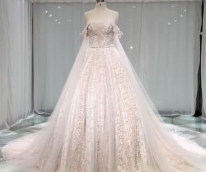 bridal, champagne wedding dress, and wedding dress 2019 image