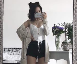outfit, aesthetic, and flowers image