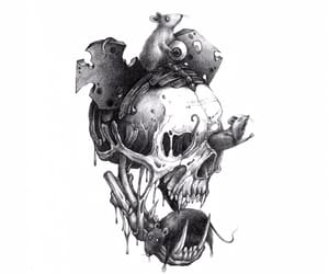 afraid, human, and skeleton image
