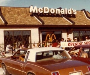 vintage, food, and McDonalds image