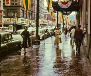 1950s, city, and 50s image