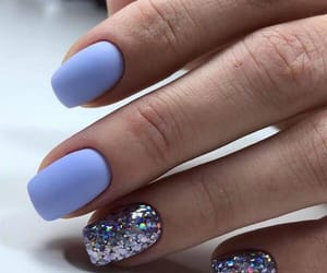 baby blue, blue sky, and nail art image