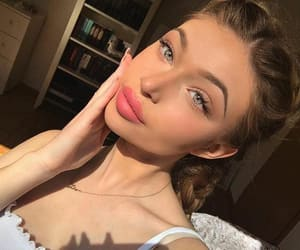 girl, makeup, and selfie image