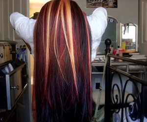 colored hairs image