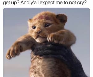 childhood, lion king, and cry image