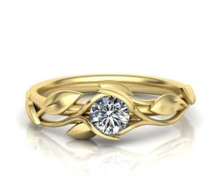 diamond ring, leaves ring, and solitairering image