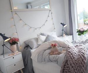 Blanc, Chambre, and Fleurs image