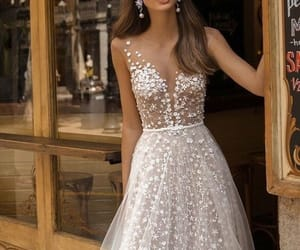 dress, white, and princess image
