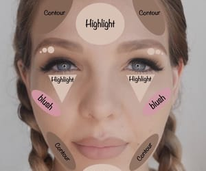 makeup, contour, and blush image