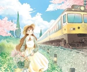 animation, art work, and train station image
