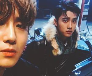 exo, d.o, and kim jun myeon image
