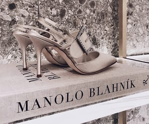 book, details, and heels image