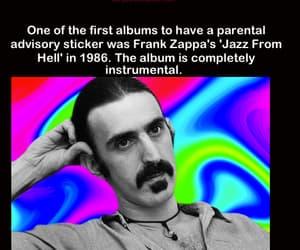 frank zappa, mind blowing af, and parental advisory sticker image