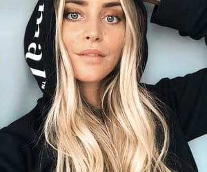 blonde, hair, and hoodie image