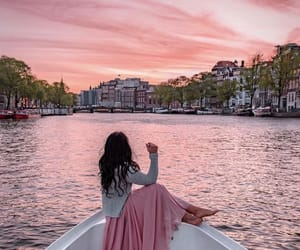 amsterdam, girl, and travel image