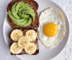 banana, healthy, and egg image