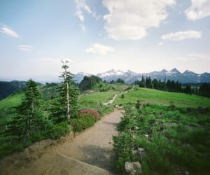 alpine, trail, and analog image