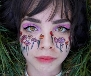 nice, lovely makeup woman, and alternative grunge face image