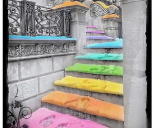 building, color, and steps image