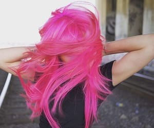 dynamite, fucsia, and hair image