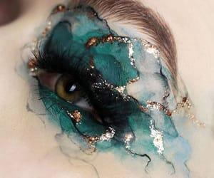 makeup, eye, and green image