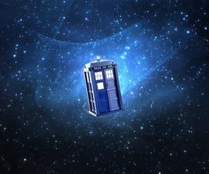 blue, stars, and tardis image