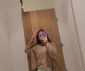 aesthetic, sweater, and mirror shot image