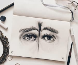 art, eyes, and girl image
