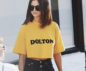 selena gomez, yellow, and selenagomez image