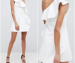 shoulder mini dress and ruffle one image