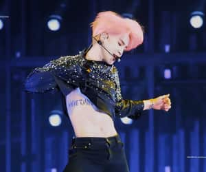 leadvocal, 지민, and jimin pink hair image