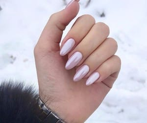 nail art, pink nails, and winter image