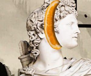 beauty, collage art, and orange image