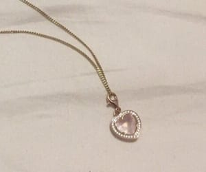 aesthetic, pink, and necklace image