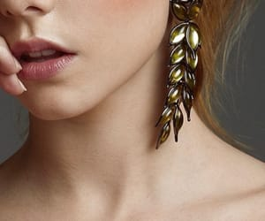 earrings, look, and fashion image
