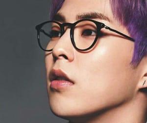exo, kpop, and purple hair image