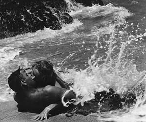 kiss, waves, and sea image