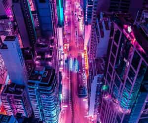 aesthetic, city, and cyberpunk image