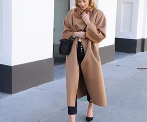 blonde, girl, and coat image