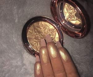 highlighter, makeup, and nails image