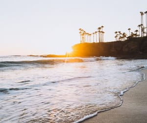 beach, la, and landscape image